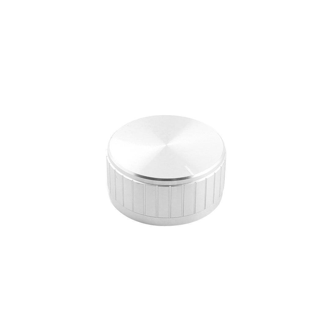Uxcell Aluminum Potentiometer Volume Knob 40 mm x 20 mm for 6 mm Diameter Knurled Shaft