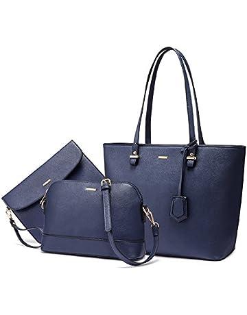 f2c74fe3e79 Handbags for Women Shoulder Bags Tote Satchel Hobo 3pcs Purse Set Bronze  gold