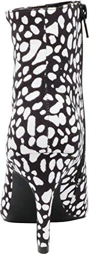 Heel Toe Stiletto Black Bootie Women's Classic Imsu Cambridge High Ankle White Select Pointed nqwF4xx0I