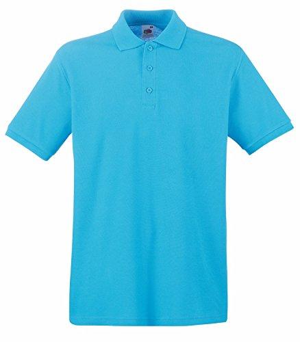 F511N Premium Polo, Farbe:Azure Blue;Größen:M M,Azure Blue