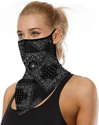 Multifunctional Headwear Bandana Face Mask Rave Headband Snood Neck Scarf Balaclava Tube Mask for Motorcycle Cycling Hiking Outdoor UV Protection
