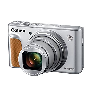 Canon PowerShot SX740 Digital Camera w/40x Optical Zoom & 3 Inch Tilt LCD 4K VIdeo, Wi-Fi, NFC, Bluetooth Enabled (Silver)