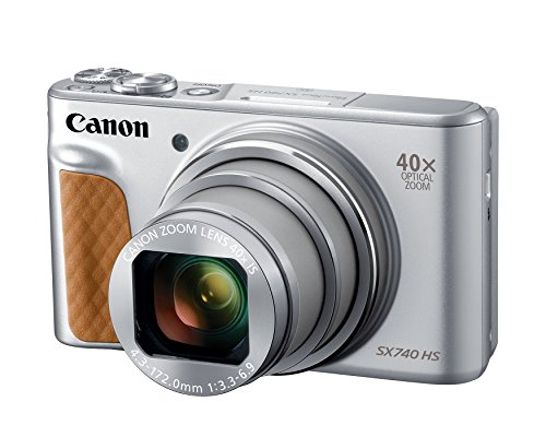 Canon PowerShot SX740 Digital Camera w/40x Optical Zoom & 3 Inch Tilt LCD - 4K VIdeo, Wi-Fi, NFC, Bluetooth Enabled (Silver) ()