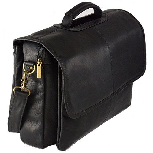 Hammer Anvil Solano Colombian Leather Messenger Bag Laptop Briefcase Black
