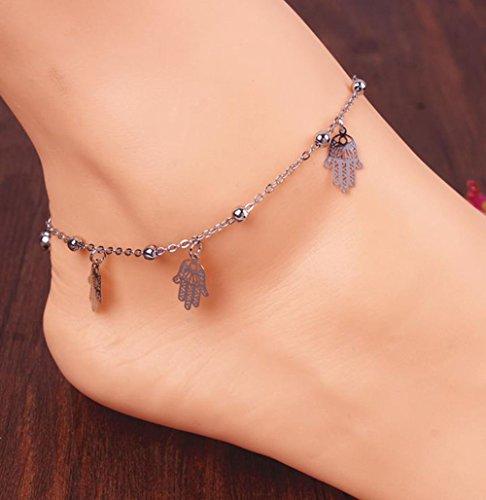 pour Cdet plage petites Été de chaîne de Bijoux et 1PC Cadeau perles l'amour Chaîne Réglable cloches forme vx4qTOvwr
