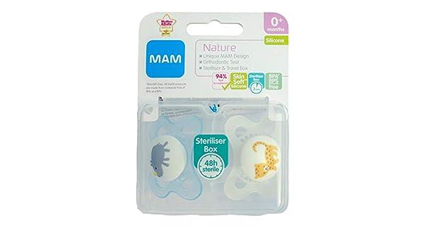 MAM Nature: 2 x Chupetes 0m+ (Rinoceronte/Leopardo): Amazon ...