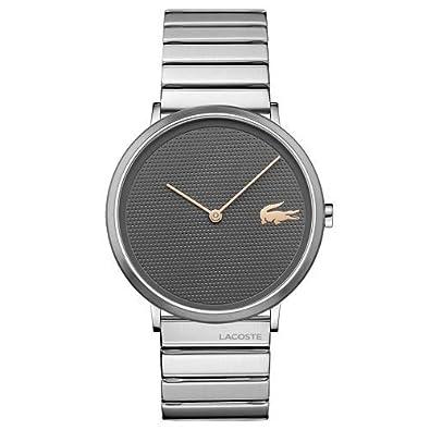 801bacf3cb5 Relógio Lacoste Masculino Aço Cinza - 2010954  Amazon.com.br  Amazon ...