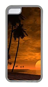 Customized Case Landscapes beach 2 TPU Transparent for Apple iPhone 5C