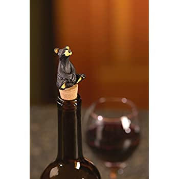 Wine Bottle Stoppers and Corks Set of 2 Bears Cubs Very Cute! NEW