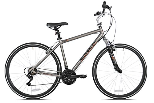 Recreation Journey Hybrid Bike, Silver, 19
