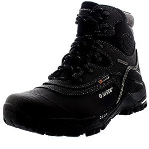 Hi-Tec Mens Trail Ox Winter 200 Hiking Walking Fleece Waterproof Boots - Black/Charcoal - 10