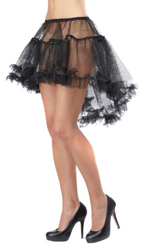[California Costumes Women's Eye Candy - Hi - Lo Pettiskirt Adult, Black, Large/X-Large] (Halloween Costumes Petticoat)