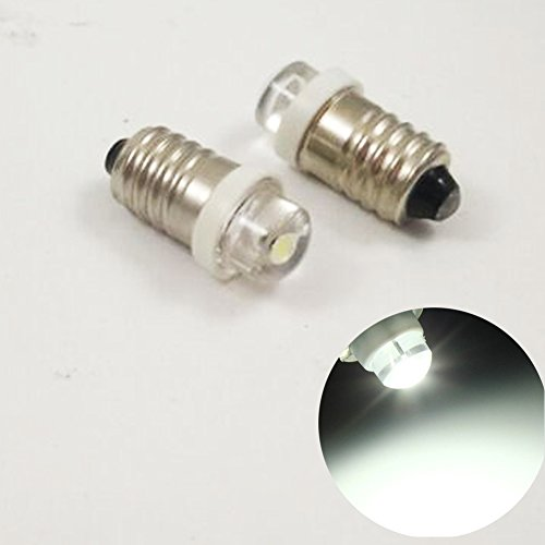 3/5/10PCS E10 3V 0.5W White LED MES Upgrade Bulb Lamp Replacement for Torch Flashlight Headlight Bicycle