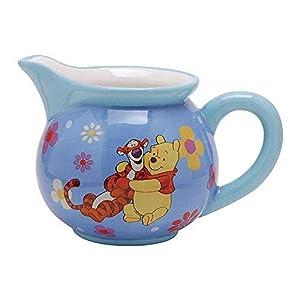 Westland Giftware Disney Winnie The Pooh Hug a Friend Ceramic Creamer, 8 oz, Multicolor