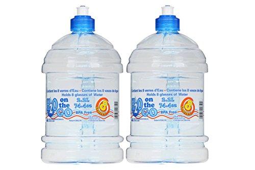 Arrow H2o On The Go 2 2 Liter Beverage Bottle   2 Count