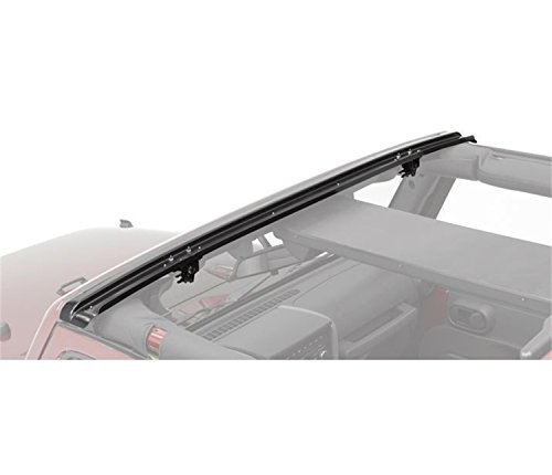 (Bestop 51243-01 Black Header Windshield Channel for 2007-2018 JK Wrangler 2-Door & 4-Door)