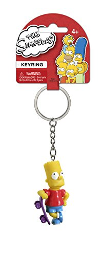 - Fox The Simpsons Bart with Skateboard 3D PVC Key Ring
