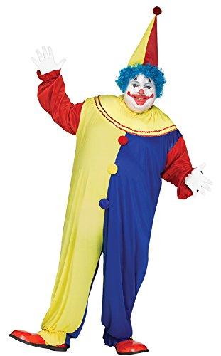 Party Clown Men Plus Size Costume