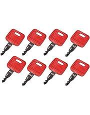 Friday Part 8PCS Ignition Keys H800 for Hitachi&John Deere Excavator Case Dozer&Fiat&New Holland