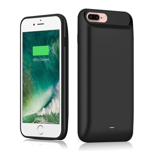 Ocamo Fashion High Capacity Magnetic Backup Power Bank Pack External Battery Charger Case for iPhone 7 Plus/8 Plus