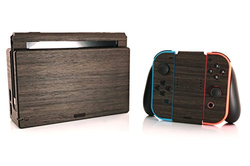 TOAST - Real Wood, Self-Adhesive Cover for Nintendo Switch - Ebony