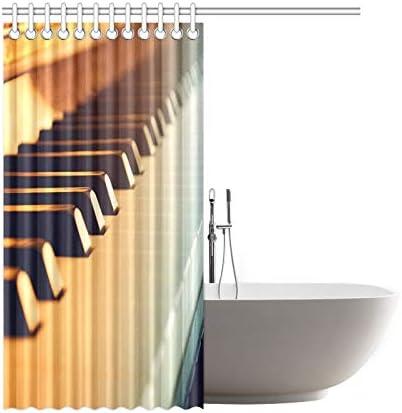 N\A Decoración para el hogar Cortina de baño Piano y teclados ...