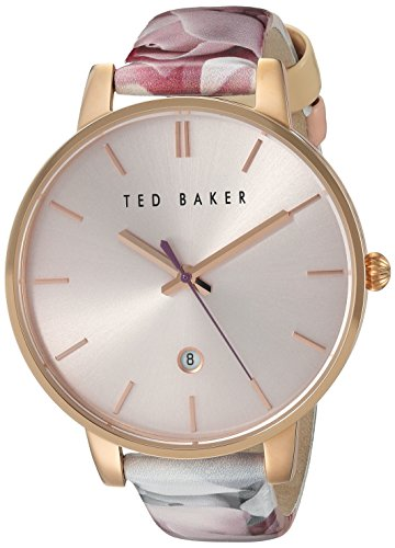 Ted Baker Women's Classic Stainless Steel Japanese-Quartz Watch with Leather Strap, Black, 16 (Model: 10030695