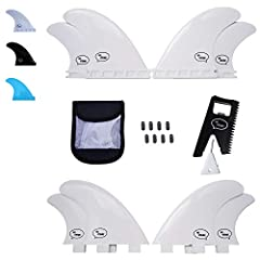 *** Comes with reusable fin bag, great for travelling with your fins ***  These FRP (Fiberglass Reinforced Polymer) quad fins are more affordable than our fiberglass honeycomb fins, without much loss in performance. - Lightweight - Responsive...