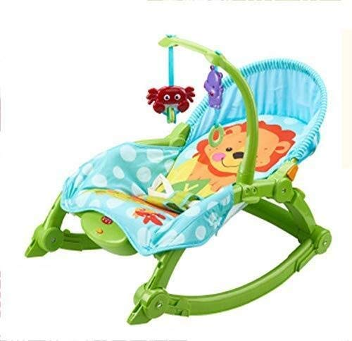 HNSYDS Baby Electric Cradle Recliner, Multi-Function Cute Cartoon Rocking Chair, Simple Light Green Plastic Baby Rocking Chair Baby Rocking Chair by HNSYDS