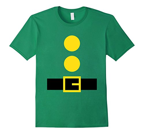 [Mens 'Dwarf Outfit' Last Minute Halloween Costume Party Shirt Large Kelly Green] (Halloween Costumes Last Minute Adults)