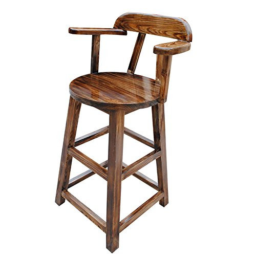 Carbonized Solid Wood Bar Stools / Bar Stools / Bar Stool / Highchair / High Stool / Household by Xin-stool