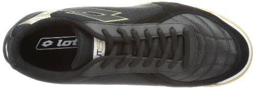 Lotto Sport FUTSAL PRO VI ID - Zapatos de fútbol de goma hombre negro - Schwarz (BLACK/STAR GOLD)