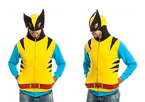 X-Men Wolverine Men's Yellow Costume Hoodie,