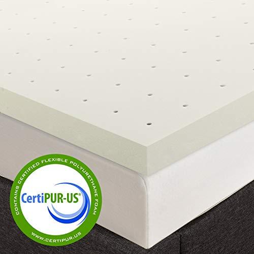 Best Price Mattress Twin Mattress Topper - 2 Inch Memory Foam Bed Topper, Twin Size