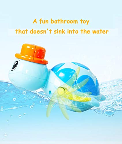 SIROD Baby Bath Toy Turtle,Floating Wind up Swimming Turtles with Hats Bathtub Cute Toys Playset for Boys Girls 3Pcs