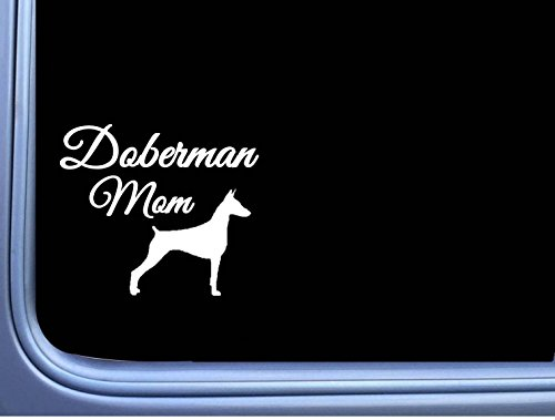Pinscher Decal - Doberman Mom j846 6