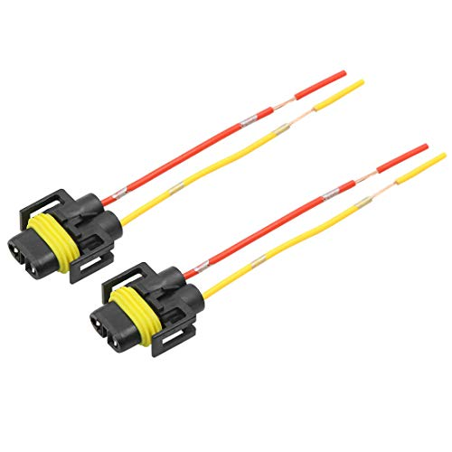 sourcingmap 2Pcs DC12V Light Wire Harness Socket Extension Adaptor Connector: