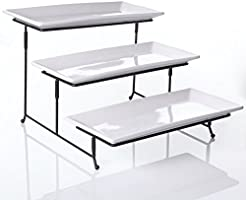 3 Tier Collapsible Thicker Sturdier Plate Rack Stand With Plates - Three Tiered Cake Serving Tray  sc 1 st  Amazon.com & Amazon.com: Cake Stands: Home u0026 Kitchen
