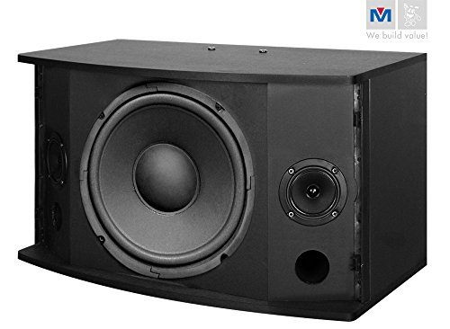 Better Music Builder CS-500 Pro 450 Watts Karaoke Speaker (Pair), Black