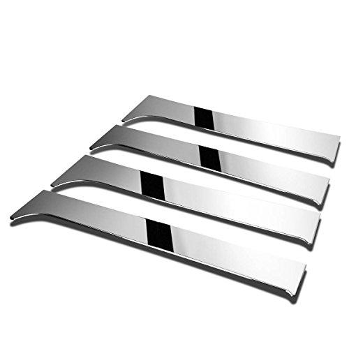 Pickup Stainless Pillar Posts - For Chevy Silverado/GMC Sierra Extended Cab 4pcs Exterior Door Pillar Post Trim Cover (Chrome)