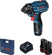 Chave de impacto Bosch GDR 120-LI 12V com 2 baterias, 1 carregador e maleta