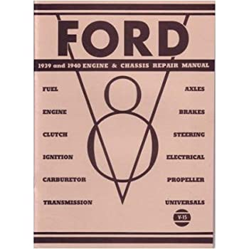 amazon com 1939 1940 ford mercury shop service repair manual book  1939 1940 ford mercury shop service repair manual book