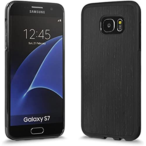Cover-Up #WoodBack Explorer Real Wood Case for Samsung Galaxy S7 Edge - Blackened Ash Sales
