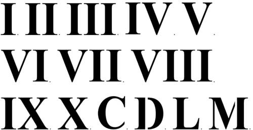 Amazon.com: Three Inch Roman Numerals Wall Stencil SKU #2923 by ...