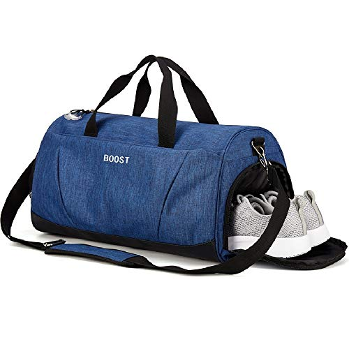 Sports Gym Bag with Shoes Compartment for Men and Women from Boost