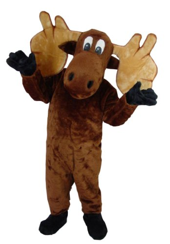 Mask U.S. Cartoon Moose Mascot Costume -