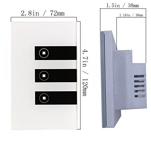 Smart WiFi Touch Panel Wall Switch Remote Control Timing Function