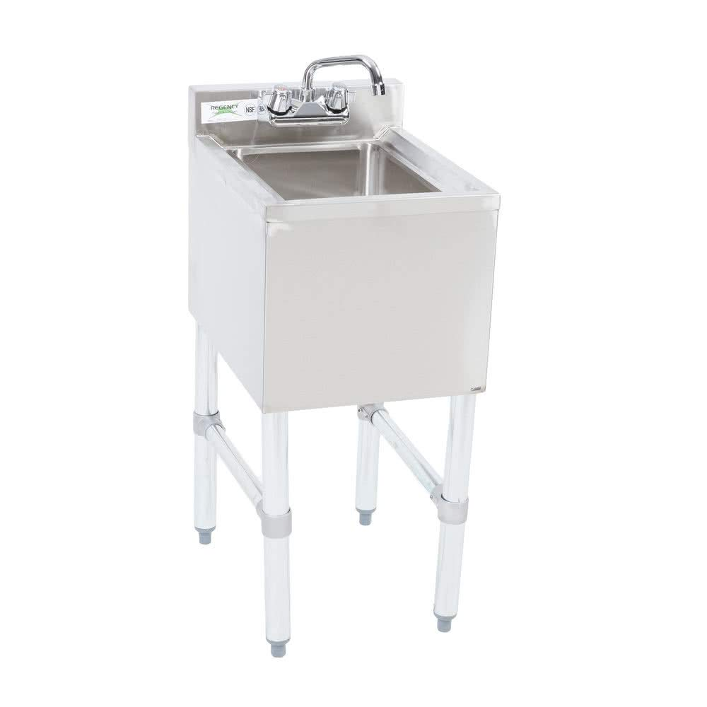 Stainless Steel Commercial Single One Compartment Under Bar Sink 19 x 12