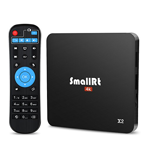 TV Box, SMALLRT X2 Android 6.0 Box 2GB RAM Quad Core Smart TV Box Built-in Wifi Supports 4K UHD Entertainment