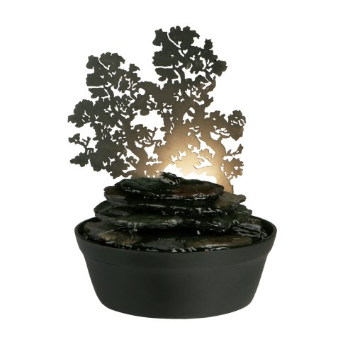 (Homedics WFL-MDV EnviraScape Midnight Valley Illuminated Relaxation Fountain with)